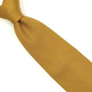 Brioni Silk Tie Textured Golden Mustard Yellow
